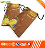 Fashionable Double Drawstring Custom Microfiber Pouch