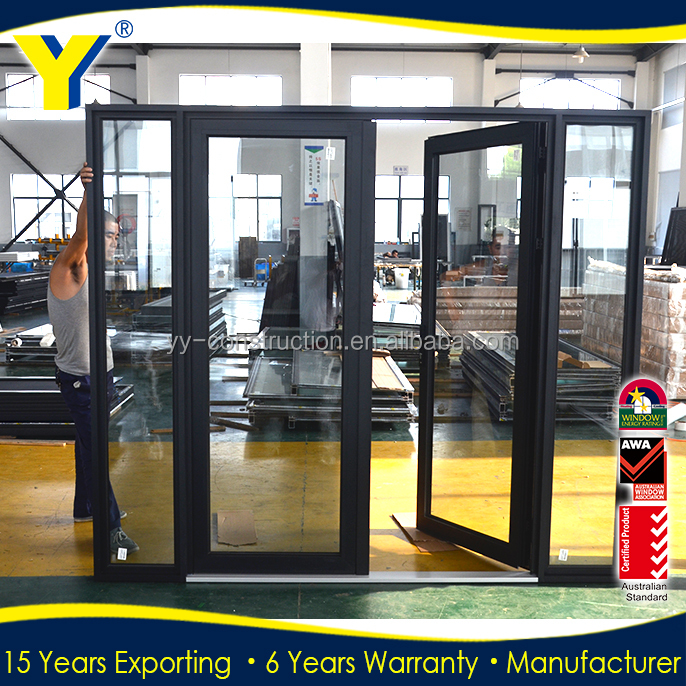 America hot sales Low-e tempered glass aluminium glass door_french door glass inserts_commercial out swing door