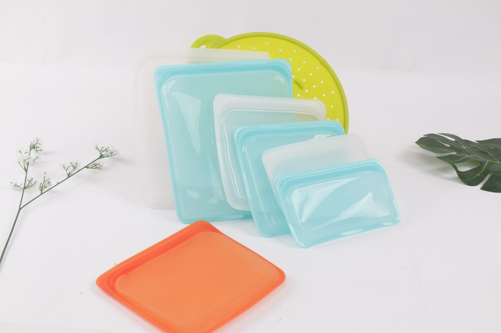 Reusable Silicone Food Storage Bags Sandwich, Liquid, Snack, Fruit, Freezer Airtight Seal BEST for preserving and cooking