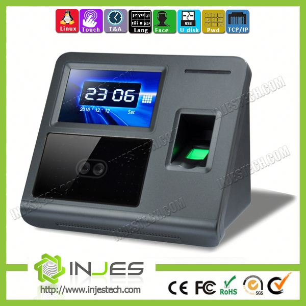 Touch Screen 1000 User Web Push Technology Facial Access Control Device
