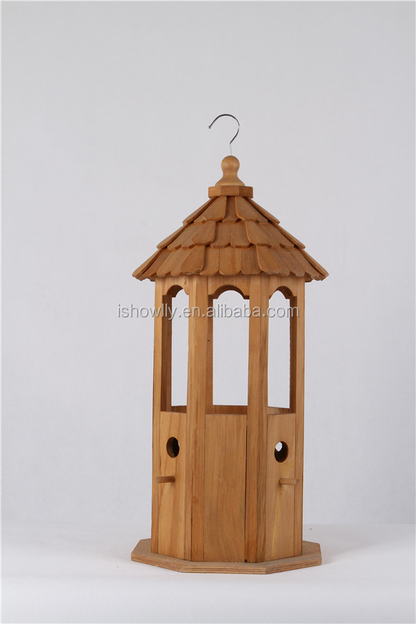 BSCI factory nature wooden plywood MDF birdhouse pure wood
