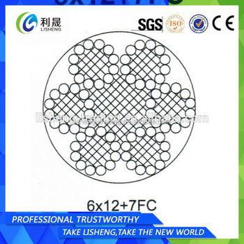 6x12+fc Steel Winding Wire Rope - Buy 6x12+fc Steel Winding Wire ...
