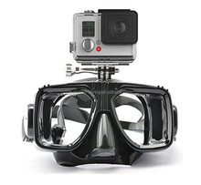 New arrivals gopro scuba mask and snorkels tempered lens version silicone diving mask for adult ultra clear scuba diving mask