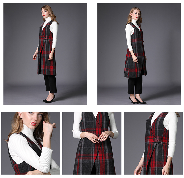 Excellent quality fashion vest women standard woolen coat