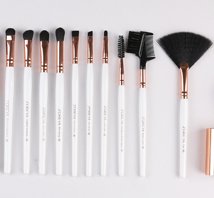 2016 New Private Label Zoreya Rose Gold Synthetic Makeup Brushes