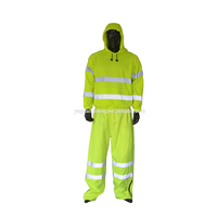 Factory Men Yellow Reflective Clothes High Visibility Winter Safety Jacket