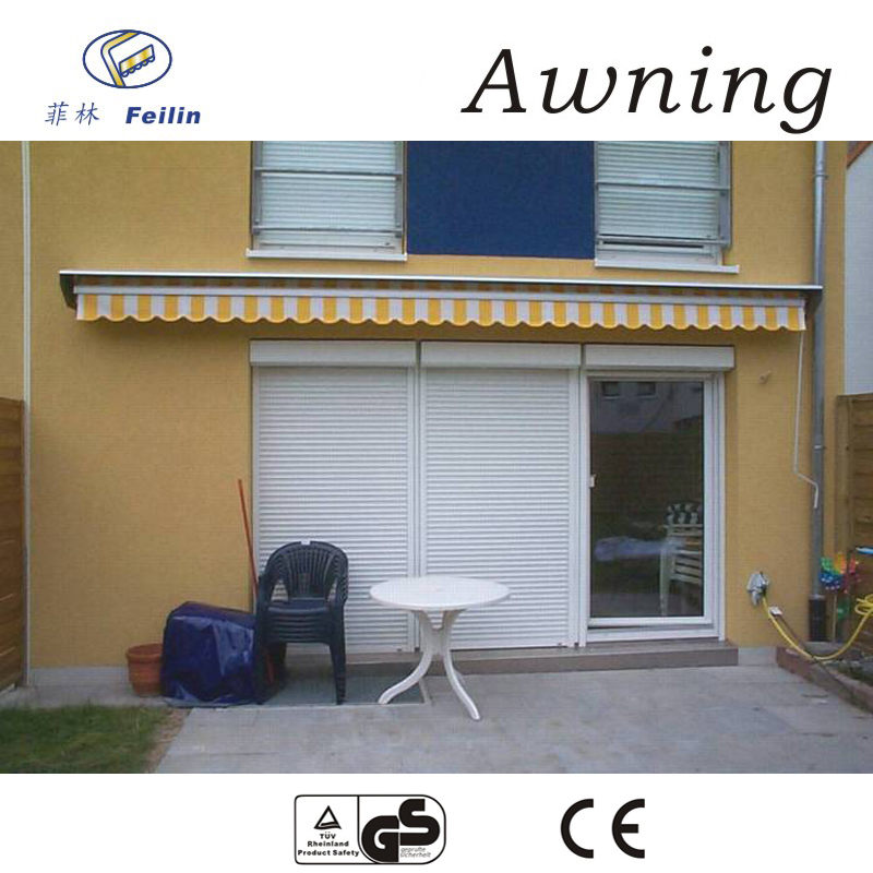 Aluminum motorized canvas awning awnings/mosquito netting for awnings