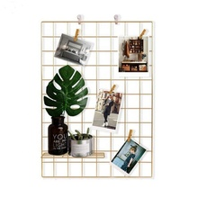 Metalen <span class=keywords><strong>draad</strong></span> grid photo wall home decoratie voor muur decoratieve home decor muur
