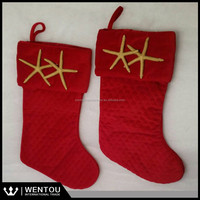 Wholesale Personalized Red Quilted Christmas Stocking Monogrammed Fully Lined Red Quilted Christmas Stockings