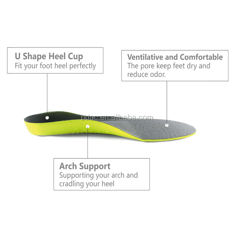 Factory wholesale Orthotic Shoes Insoles / shoe Arch Support Pad / Support Shoe Insoles