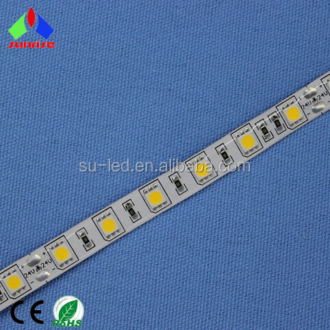 Waterproof tape attaching 12V 24V LED stripe 5050 for wall edge lighting