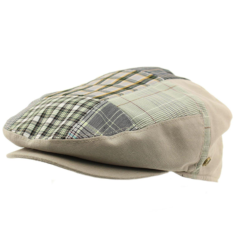 Get Quotations · SK Hat shop Men s 100% Cotton 14 Patch IVY Snap Front Driver  Cabby Flat Cap 50a091e8c9ed