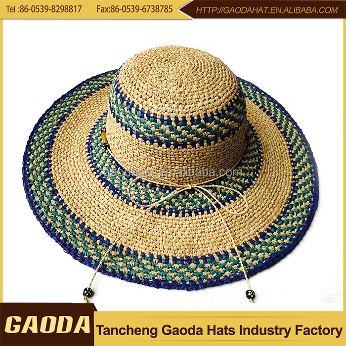 Ladies Fashion Summer Hat Frayed Custom Straw Hat - Buy