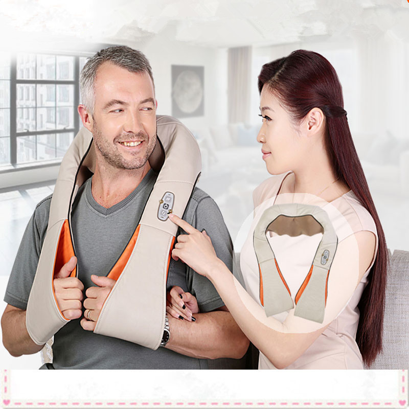 HOT! Multifunction Infrared Body Health Care Equipment Car Home Acupuncture Kneading Neck Shoulder massager
