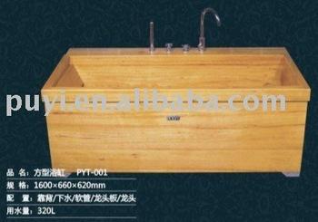 Wooden Rectangular Bathtub Wooden Bathtub
