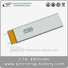 lithium polymer battery rechargable 3.7V 4900mAh 7545135