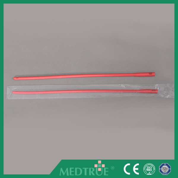 Hot Sale Medical Red Silicone Urethral Catheter With CE/ISO Certification (MT58015002)