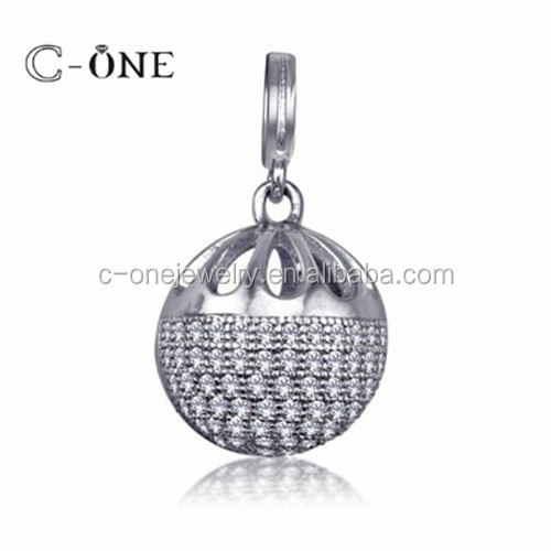 Girls Favorite Cute Gift Micro Paved Setting Silver Charm & Pendant Jewelry