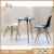 China Supplier Restaurant Indoor Furniture White Plastic PU Wood Leg Leisure Chair