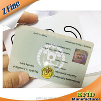 factory sell Identification cards / blood type identification card with holigram