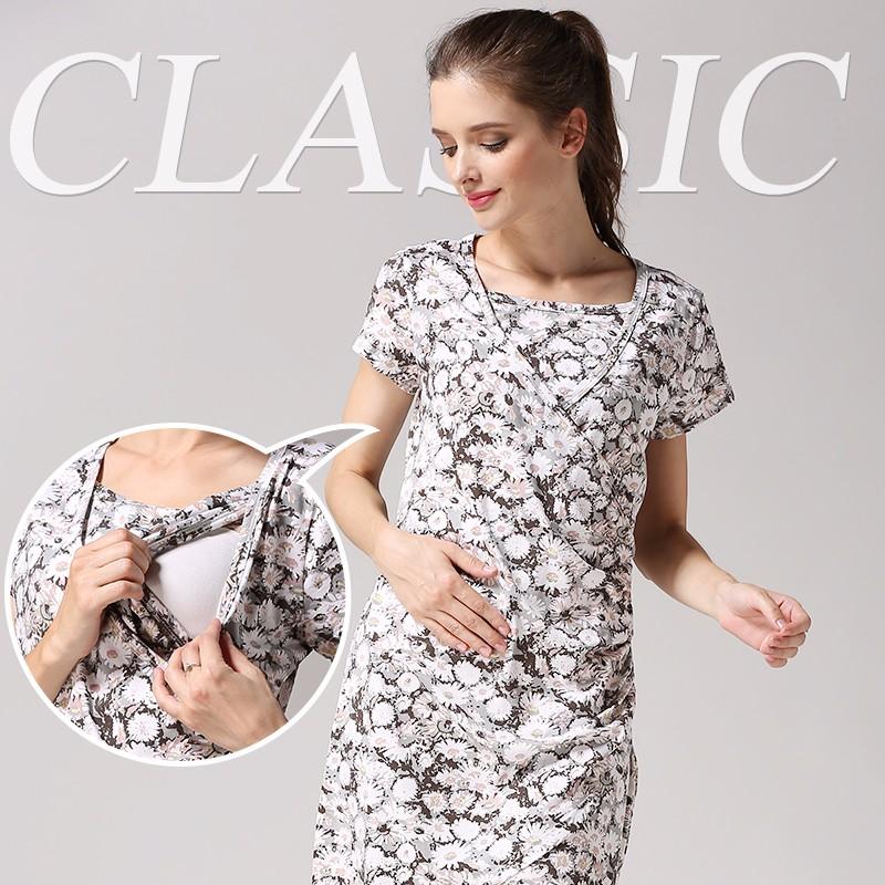 Estate del vestito di cura di maternità per le donne incinte 2016 nuovo allattamento  gravidanza abbigliamento fe9a8be5eb8