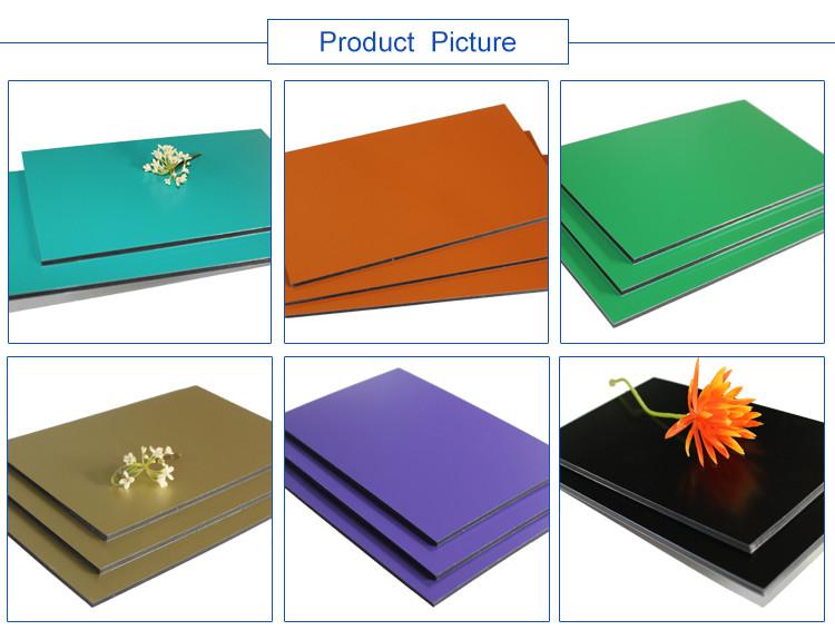 PVDF 6 5 4 3mm mm mm mm acp painel de alumínio composto alucobond painéis decorativos baratos ao ar livre painel de parede exterior material de construção