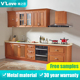 cheap calssic furniture kitchen cupboards/metal kitchen cabinets sale for small kichen/Customizable