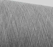 recycled yarn with melange gray