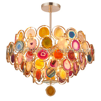 Modern luxury colorful agate stone chandelier pendant light buy modern luxury colorful agate stone chandelier pendant light aloadofball Gallery