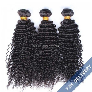Natural Color Kinky Curly Hair Weaves Brazilian Virgin Human Hair Weaves for blk woman