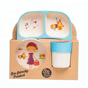 Design Durable Food Grade Eco-friendly vietnam tableware children's dinner set plastic
