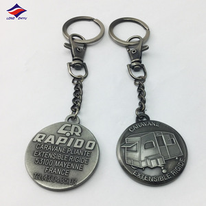 Historic attractive collectible antique pewter die casting keychain