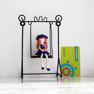 New modern swing hanging doll decoration tea shop home bedroom dressing table decoration ornaments home crystal decorations