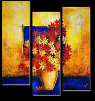 handmade wall painting decoration in sunburst design