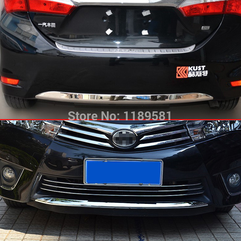 for toyota corolla 2014 abs chrome front and rear bumper cover trim in chromium styling from. Black Bedroom Furniture Sets. Home Design Ideas