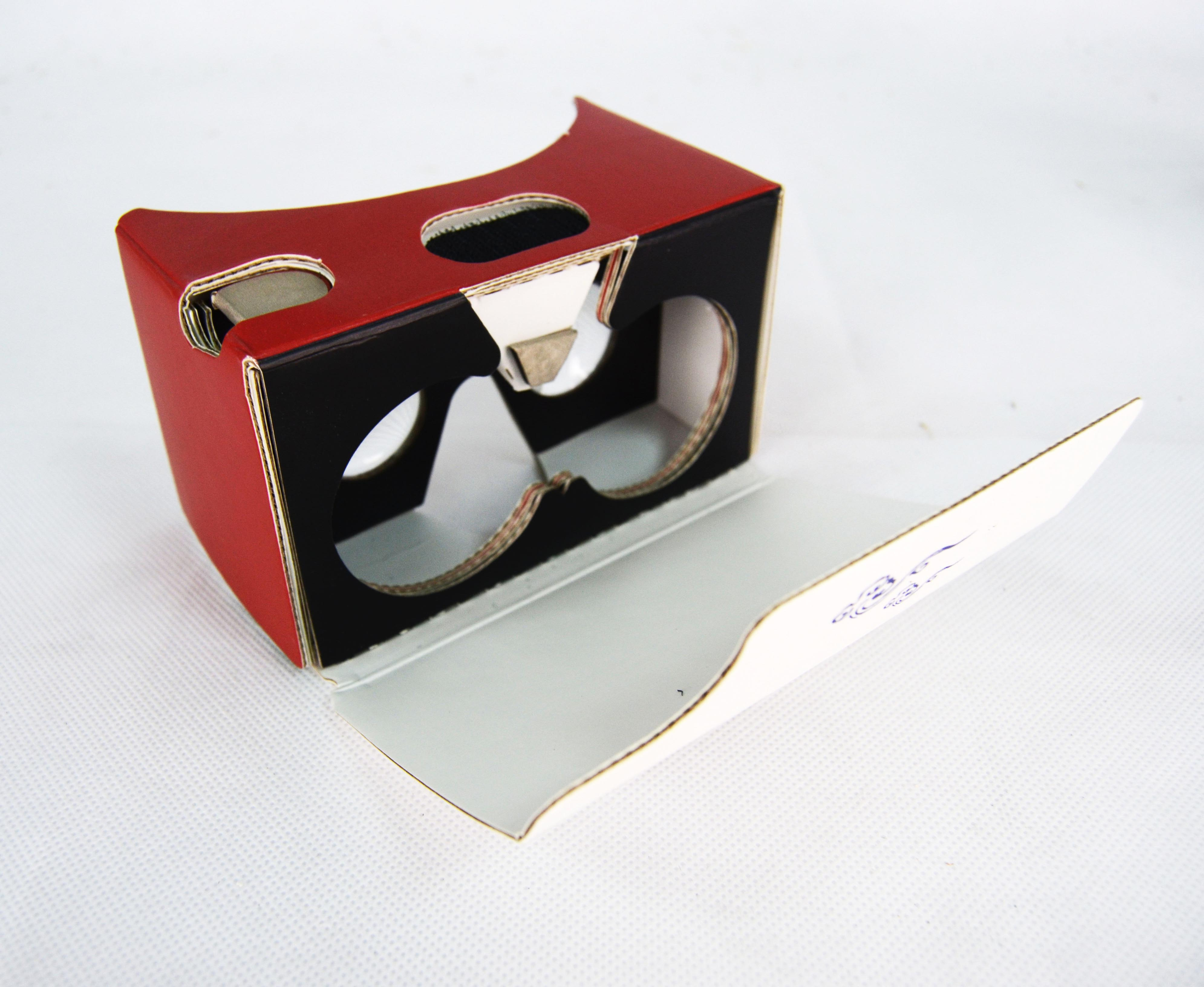 Wholesale Low MOQ New Model Paperboard Cardboard Virtual Reality Paper Goggles Google Viewer V2