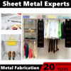 Modern customized metal closet organizers with sliding wire shoe racks