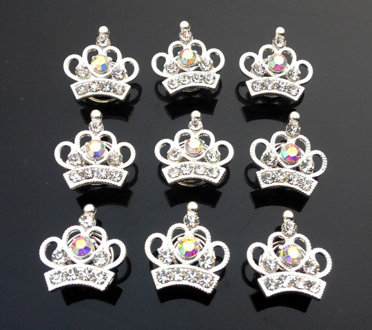 Hot sale fashion women crystal <strong>crown</strong> hair twist pins for bridal