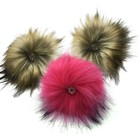 High Quality Faux Fur Pom Poms Detachable With Snap On Button For Beanie Hats