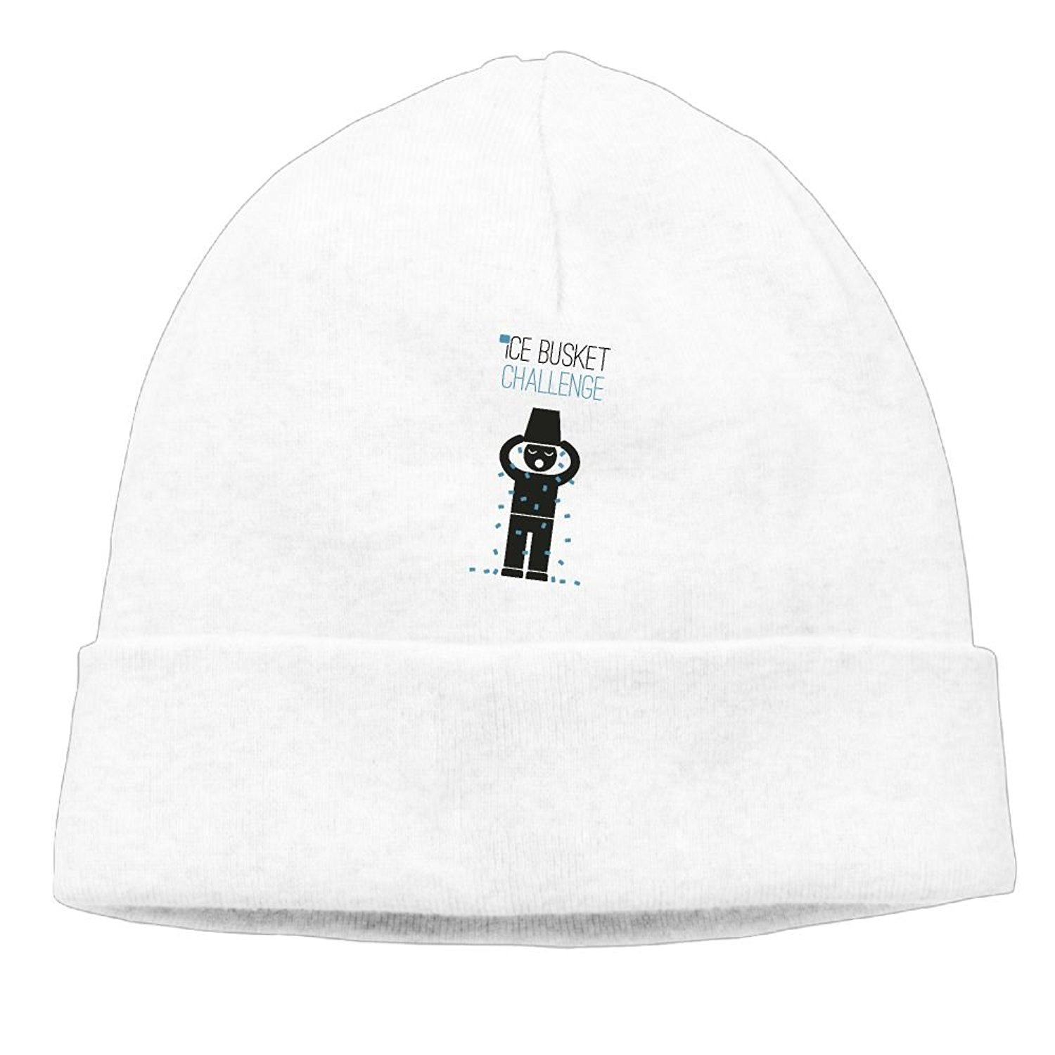ICE Bucket Challenge Unisex Men Winter Skull Caps Knit Cotton Thick Ski Beanie Hats