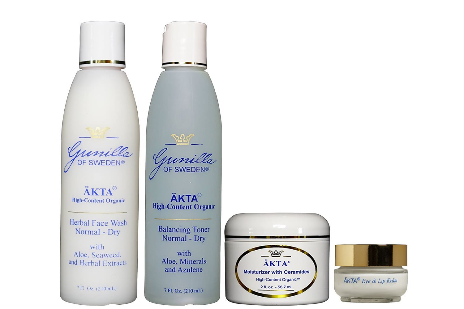 ÄKTA by Gunilla of Sweden Organic Skin Care System (Normal/Dry Skin): Based on Nutrient Rich Organic Aloe-Organic Botanical Extracts Provide Hydration and Anti-Aging Benefits- Alcohol and Oil-Free