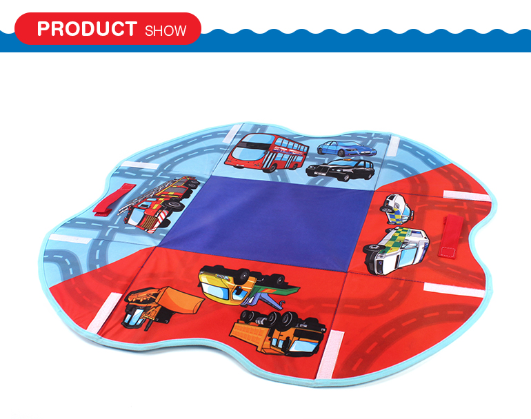 Traffic road set multifunctional foldable children play mat with storage box function