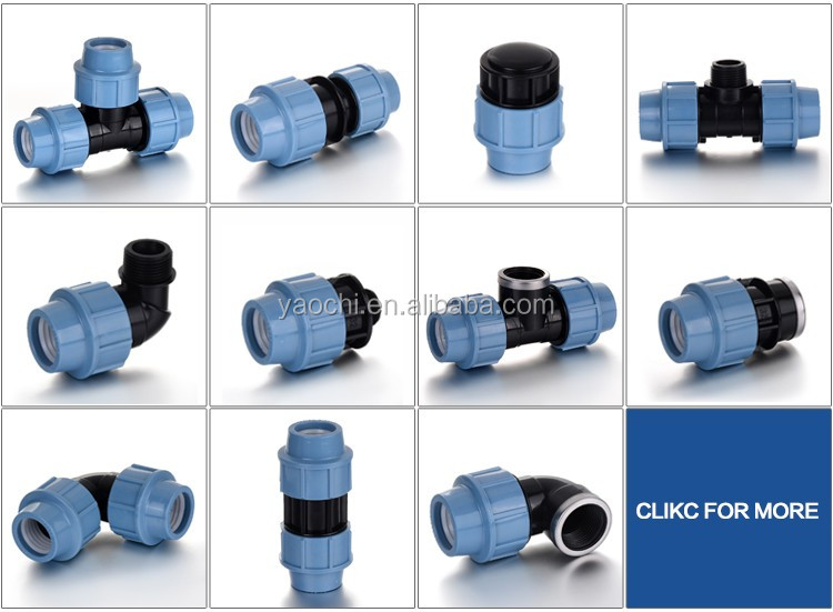 Quick Connect Irrigation Plastic PP Compression <strong>Fitting</strong> for water suppy irrigation