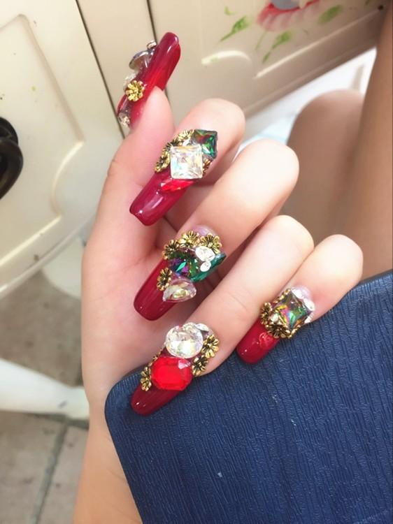 K9 Shaped Nail Art Rhinestone Big Diamond Style Crystal Nail Art ...