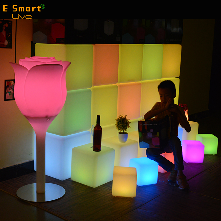 illuminated led cube chair led chairs and tables led drum chair