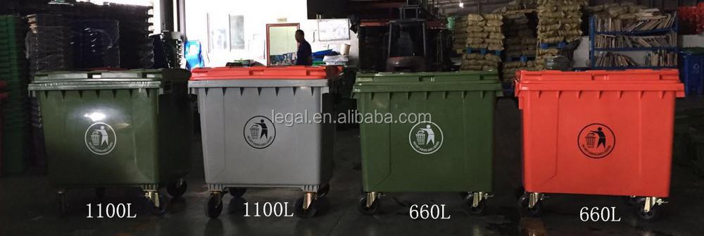 Recycling Bin Plastic Outdoor Types Of Waste Bin 1100l Rubbish Bin ...