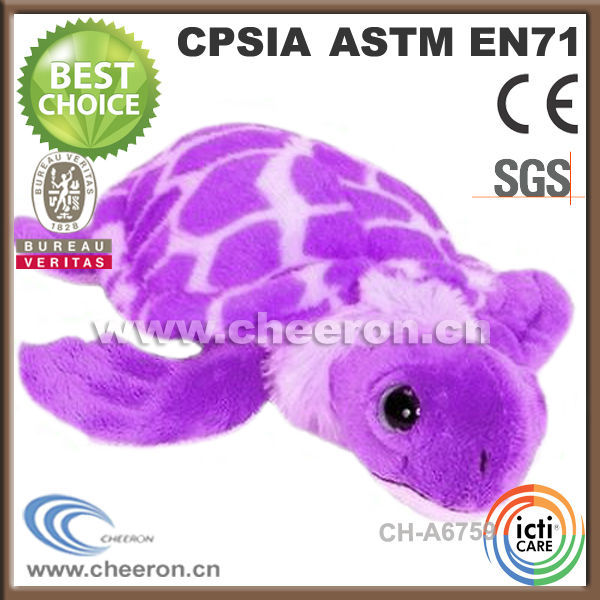 Novelty gifts soft plush purple turtle toys made in China