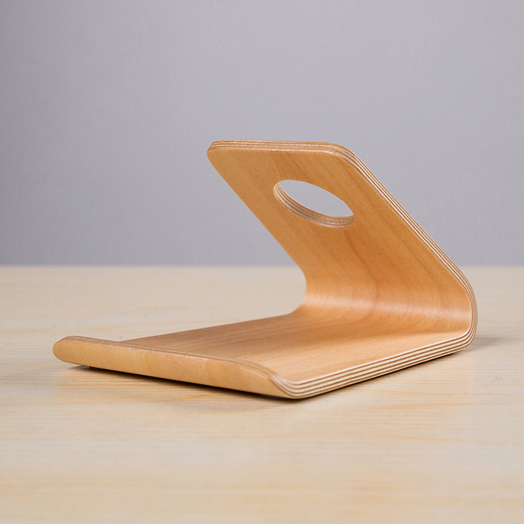 2016 China new design wooden phone holder