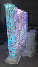 hot sale decorative lighted wedding mandap pillars columns for weddings