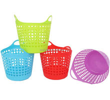 Factory OEM multi colors and size high quality PP handles plastic laundry basket